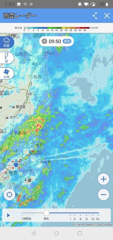 雨雲レーダー 川崎